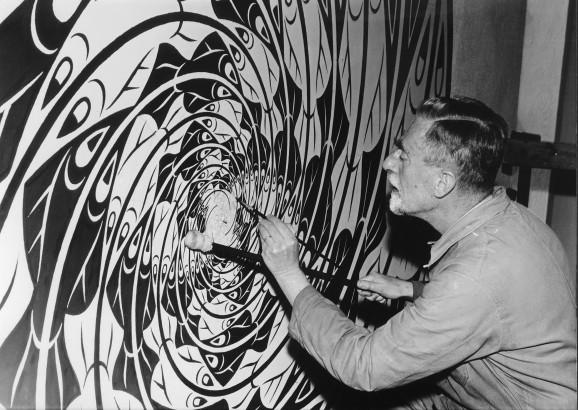 Escher-met-muurschildering-578x410